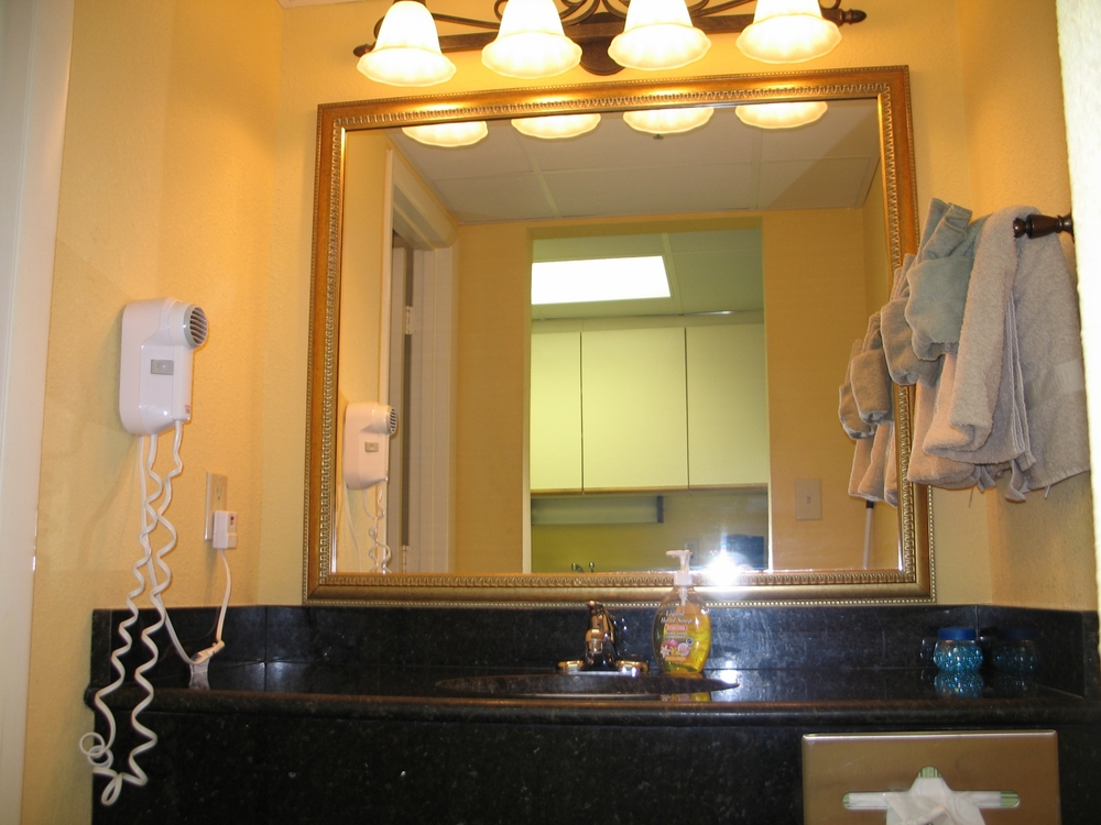 Holiday Inn at the Pavilion - bathroom with separate granite vanity