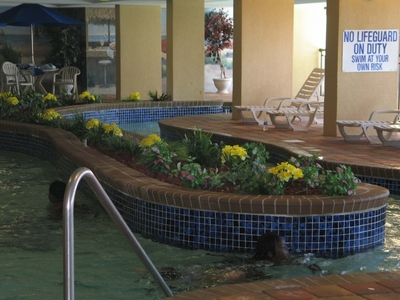 Holiday Pavilion Oceanfront Resort Vacation Rental Condo Indoor Lazy River Pool