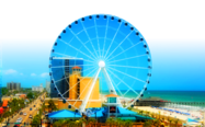 Holiday Pavilion Oceanfront Resort Vacation Rental Condo Local Attractions - Myrtle Beach Sky Wheel