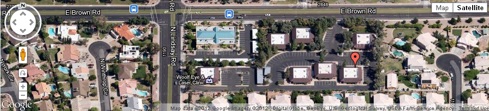 Mesa AZ Robison Dental Group Map