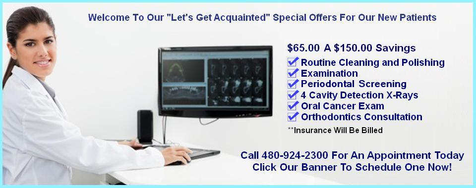 Mesa AZ Dentist New Patient Special Discounts