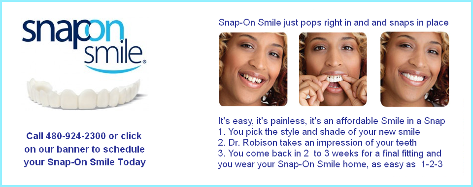 Snap On Smile in Mesa AZ Cosmetic Dentist