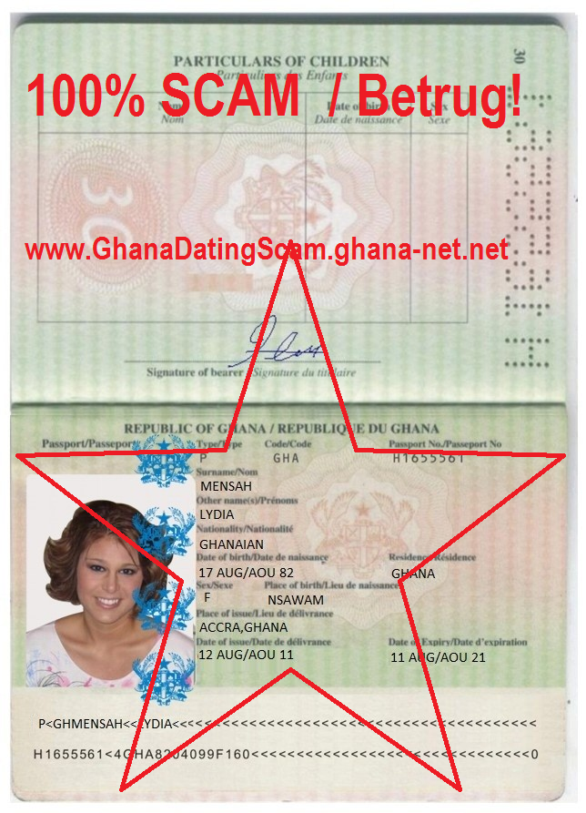 Ghana Dating Scam List
