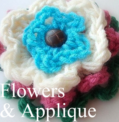 Crochet Flowers Applique Patterns easy beginner emi hectanooga ashton11 etsy