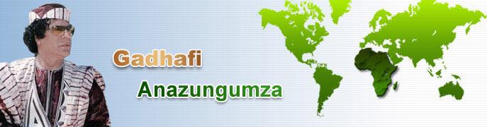 Al Gaddafi speaks Suaeli Kiswahili