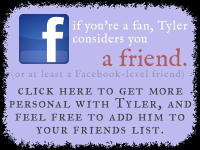 go to Tyler's Facebook profile