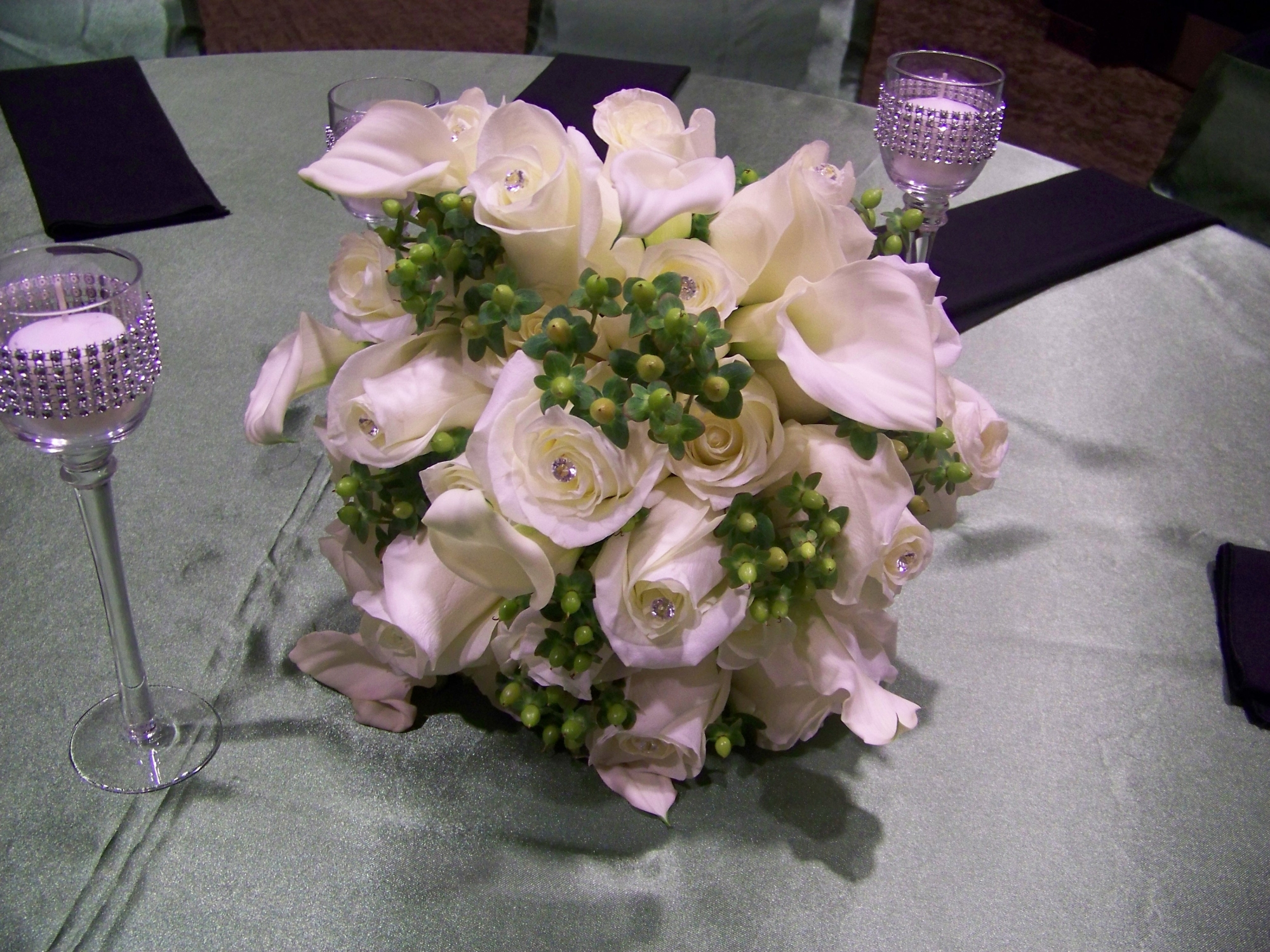White and Green Bride's Bouquet