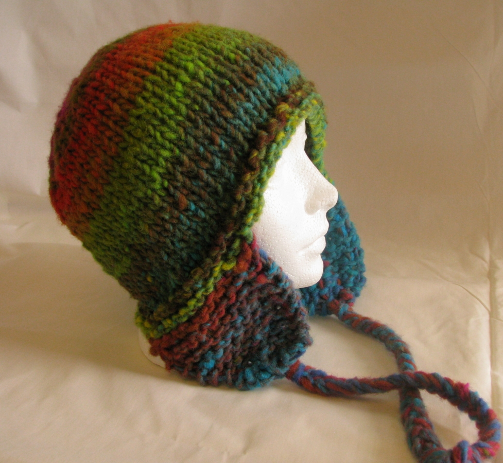 Earflap Hat Knitting Pattern Bulky Yarn : KnitTraders of Kingston Patterns: Bulky Earflap Hat