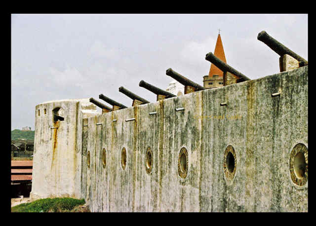 Cape Coast Castle -Castle Wall - Sea Side