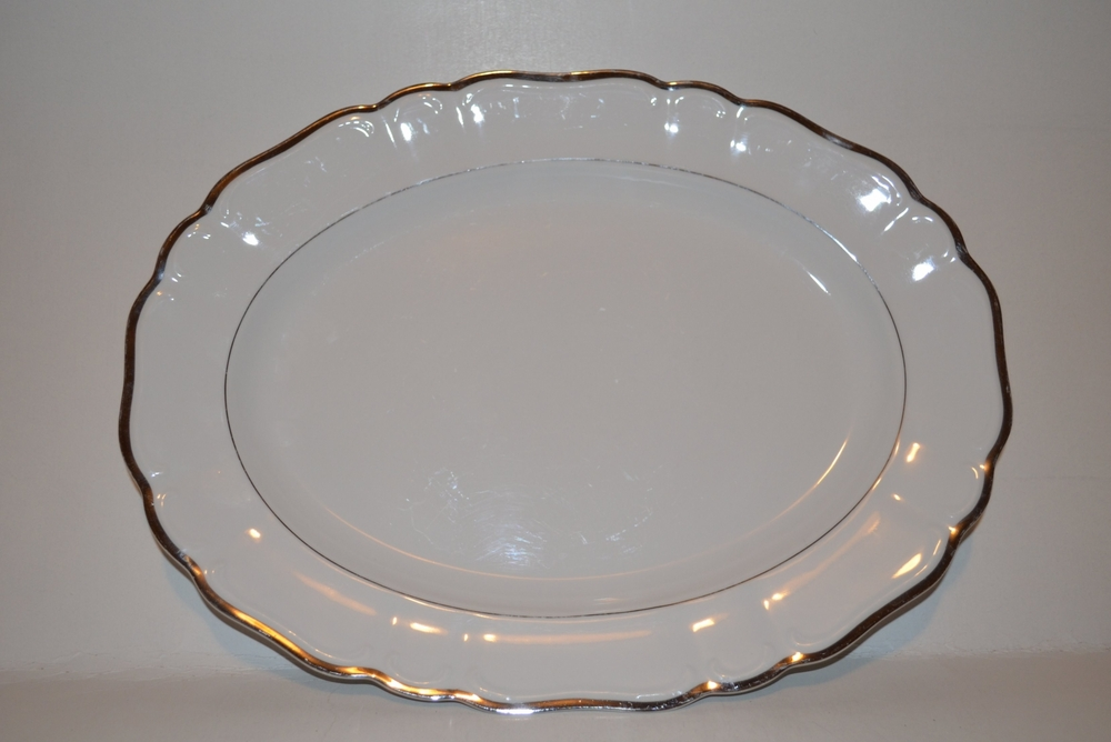 "Silver Sonata by Harmony House 14 3/8"" Oval Serving Platter 3639"