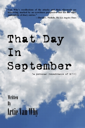 The cover of Artie Van Why's book on 9/11,