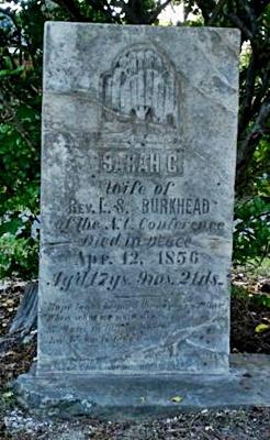 Restored headstone
