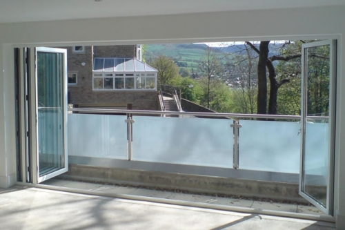 Bi-fold balcony door