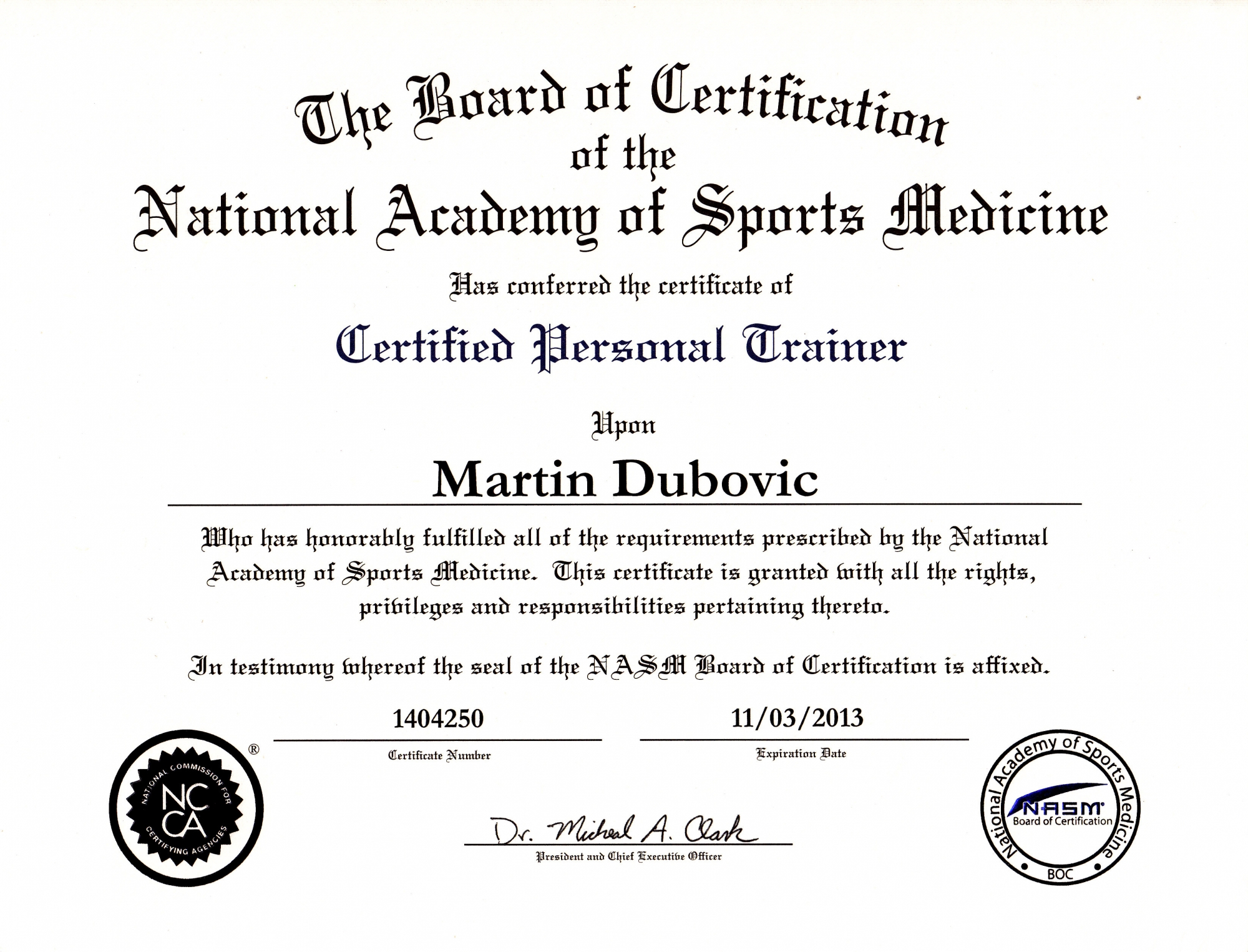 Awesome stock of nasm certification business cards and resume 100 nasm cpt manual xflitez Gallery