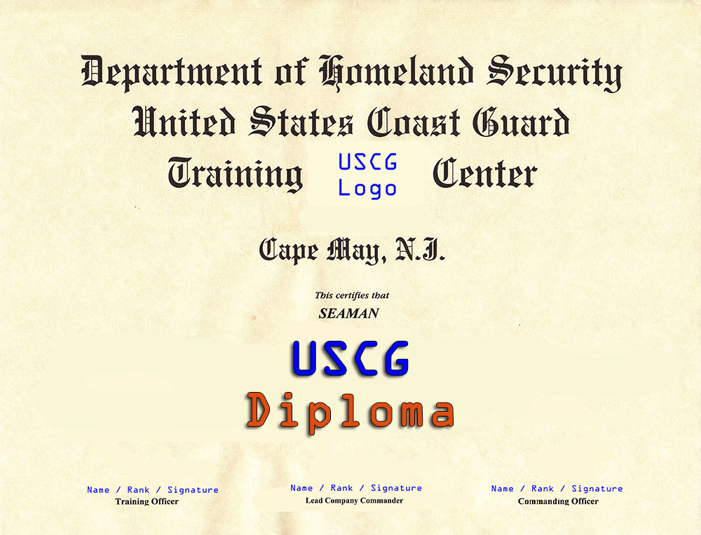 Coast Guard Basic Training Diploma