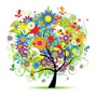 Flourishing colorful tree of life