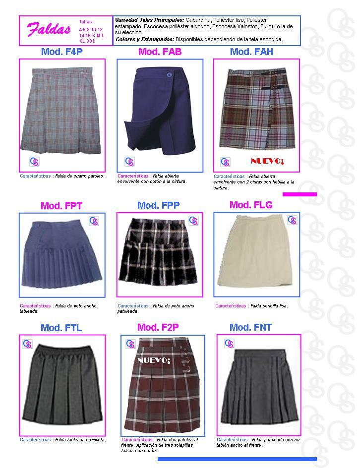catalogo uniformes qsuave falda faldas