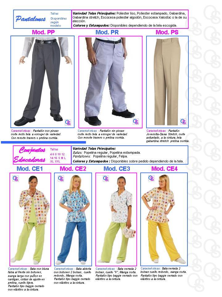 catalogo uniformes qsuave pantalon pantalones conjunto educadora