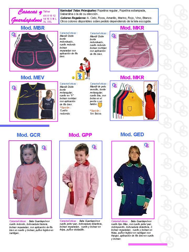 catalogo uniformes qsuave casacas y mandiles