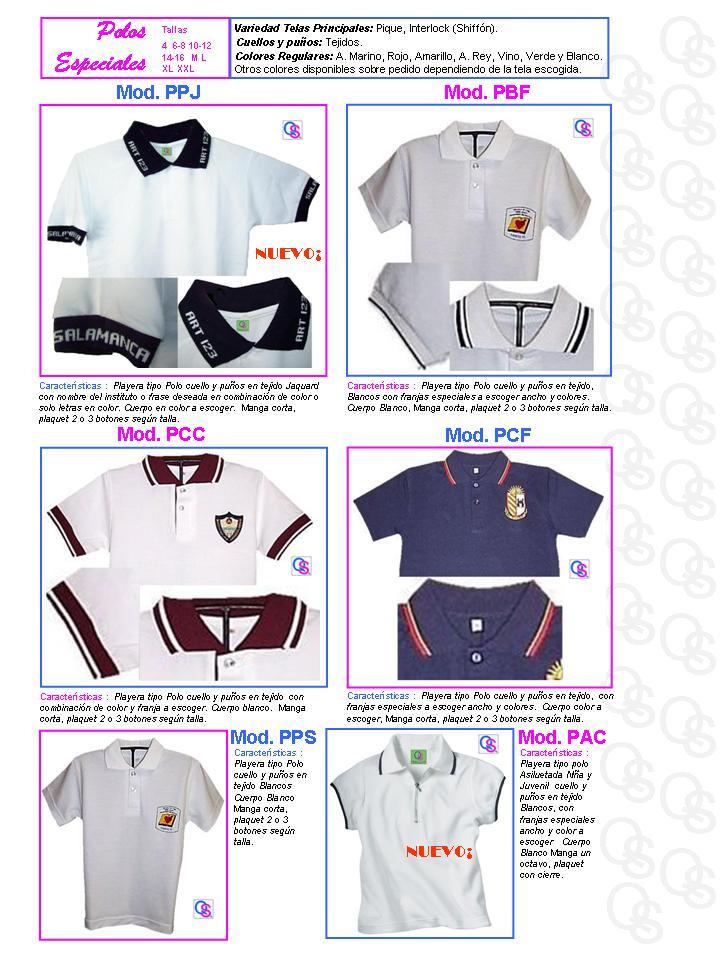 catalogo uniformes qsuave polo polos