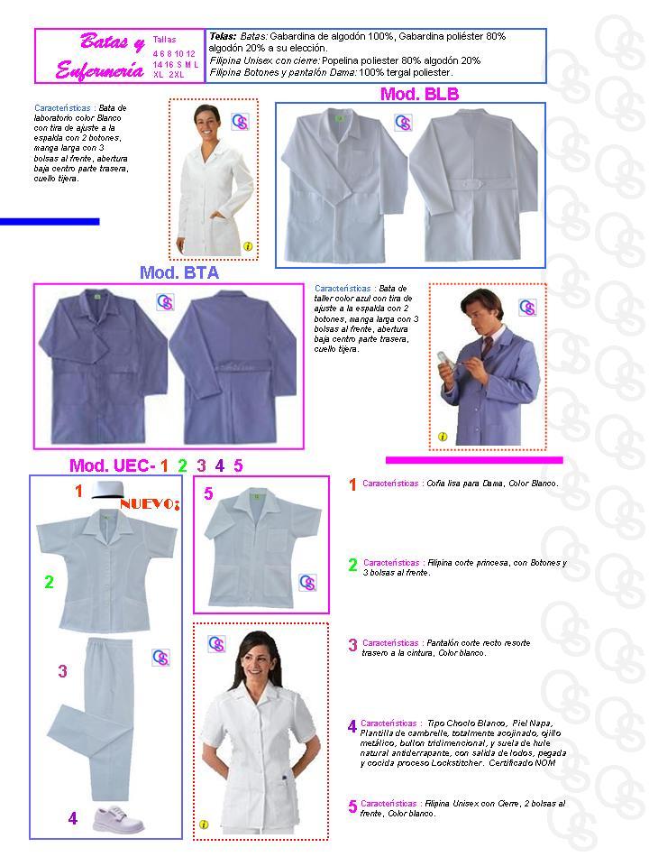 catalogo uniformes qsuave batas y enfermeria