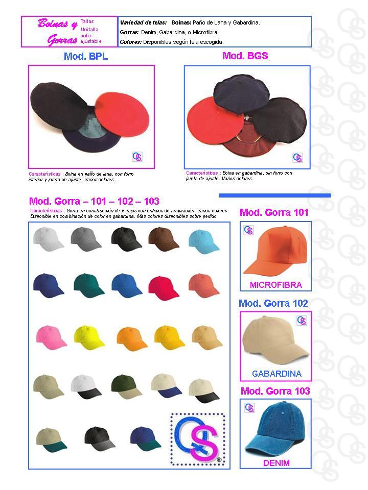 catalogo uniformes qsuave boinas y gorras