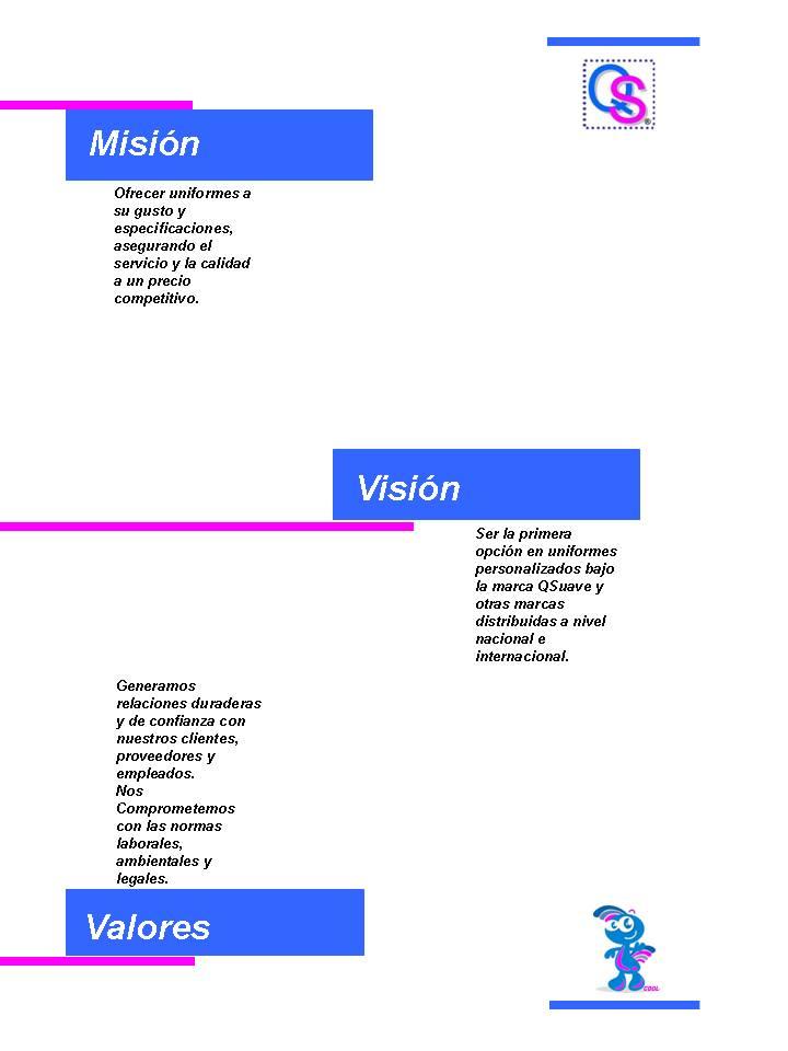 uniformesqsuave mision vision y valores imagen