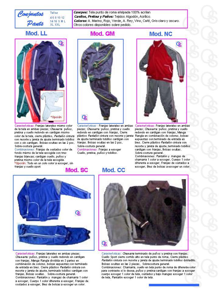 catalogo uniformes qsuave conjuntos pants
