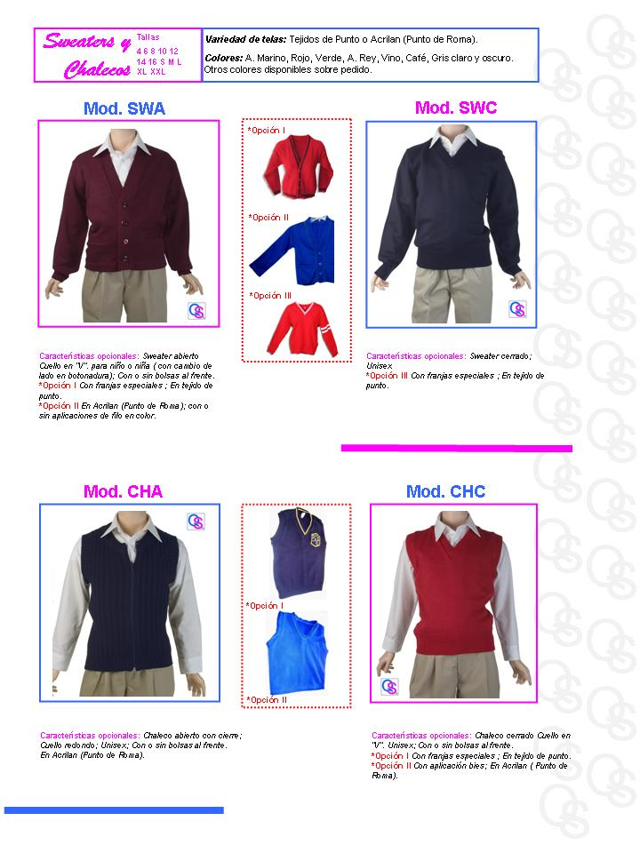 catalogo uniformes qsuave sweaters sueter sweter y chalecos chaleco