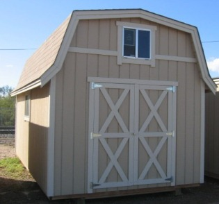 Dutch Barn Storage Building, Installed Garages