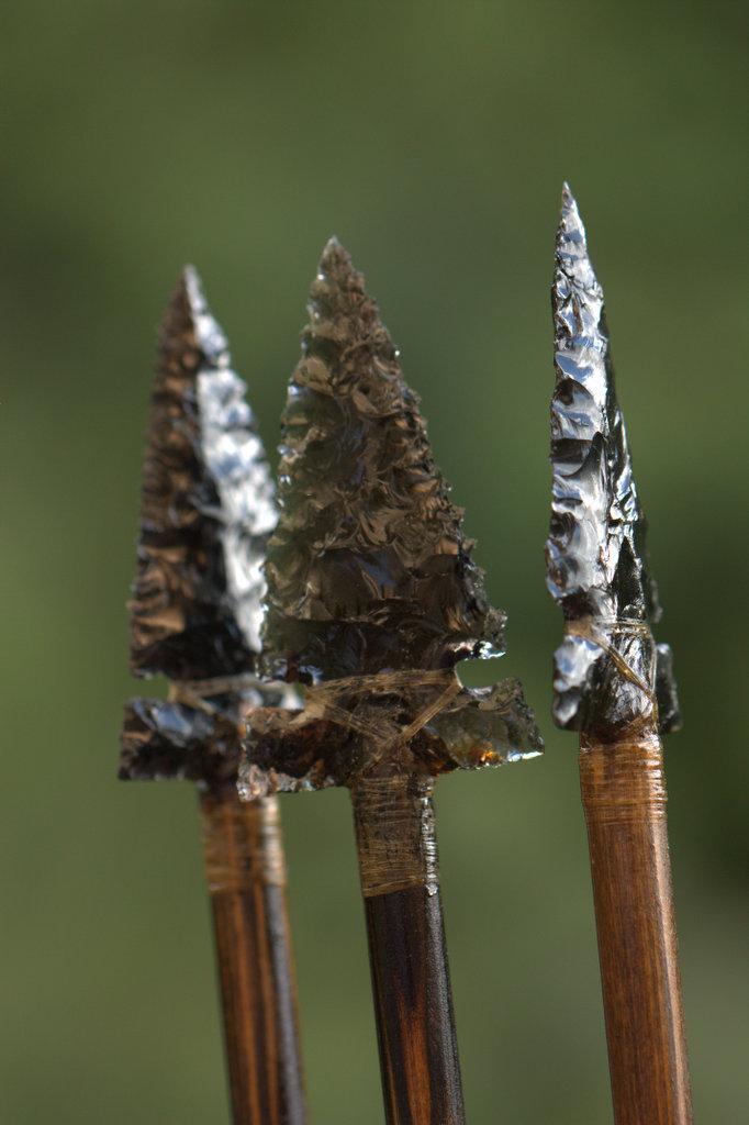 Obsidian Arrowheads