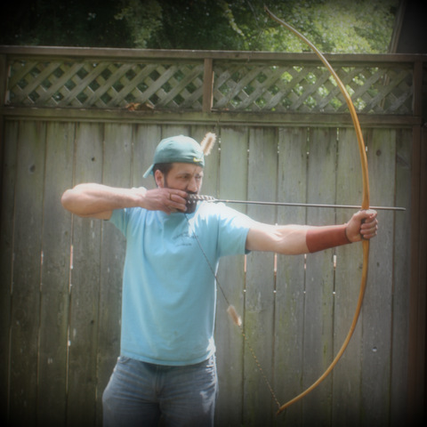 full-draw longbow osage orange