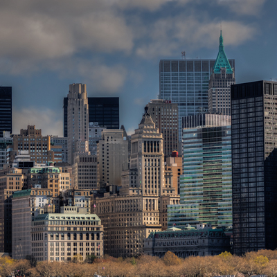 Skyline of Manhattan, the financial district