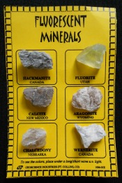 Fluorescent Minerals Cards