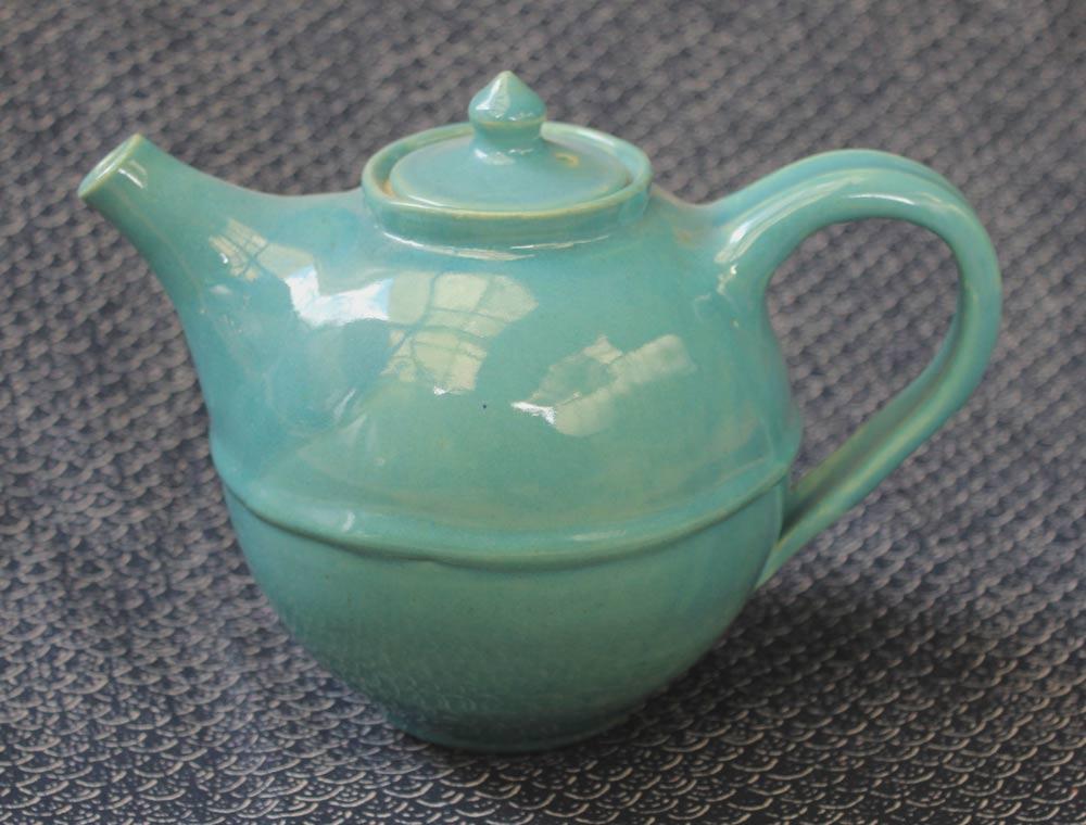 opla green teapot