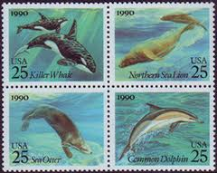 United States Sea Creatures Stamp Set
