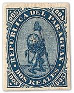 Paraguay Vigilant Lion Stamp