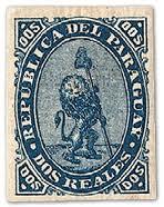 Paraguay Vigilant Lion Stamp