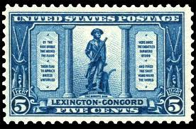 United States Minute Man Statue Stamp