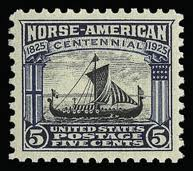United States Viking Ship Stamp