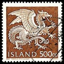 Iceland Dragon Stamp