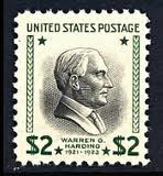 United States President Warren G. Harding Stamp
