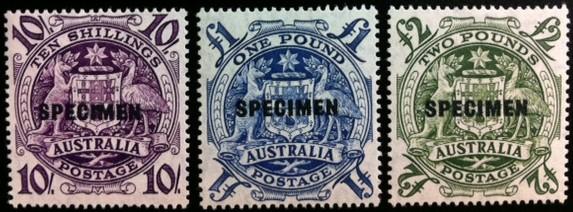 Australia #219-21 Specimen