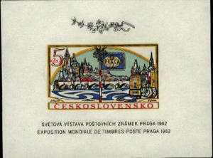 Czechoslovakia Prague 1962 Souvenir Sheet
