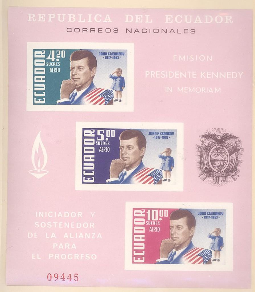 Ecuador JFK Souvenir Sheet