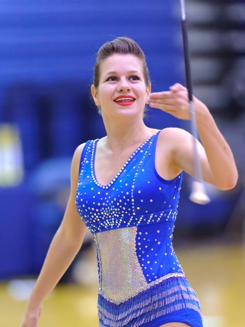 Senior Twirler Kristin Baker