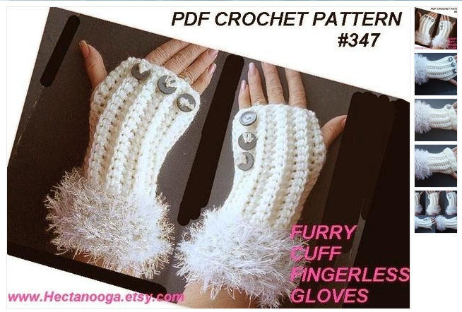 Crochet Pattern Fingerless Gloves Hectanooga Emi