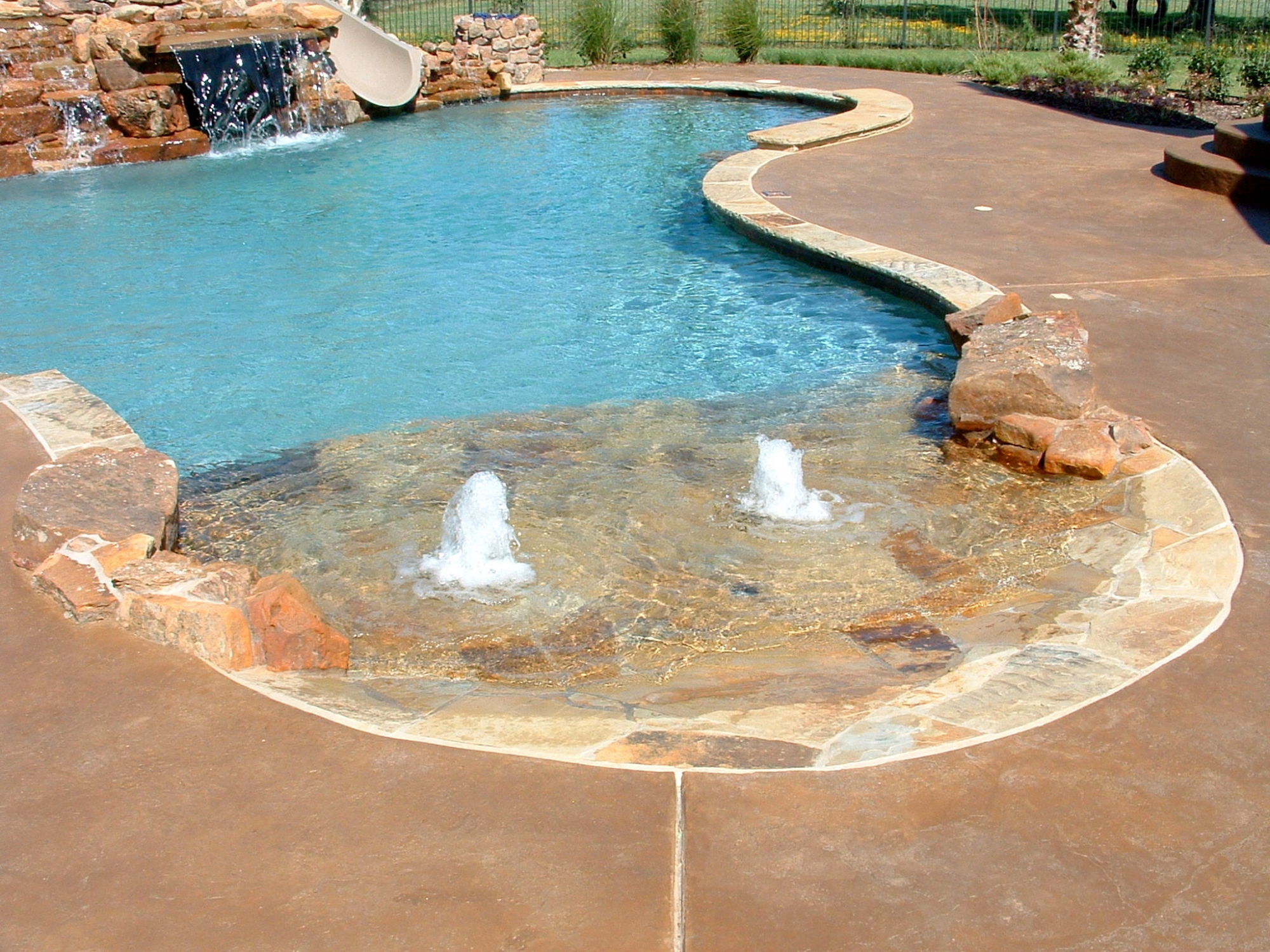 Pools gallery Beach entry swimming pool designs