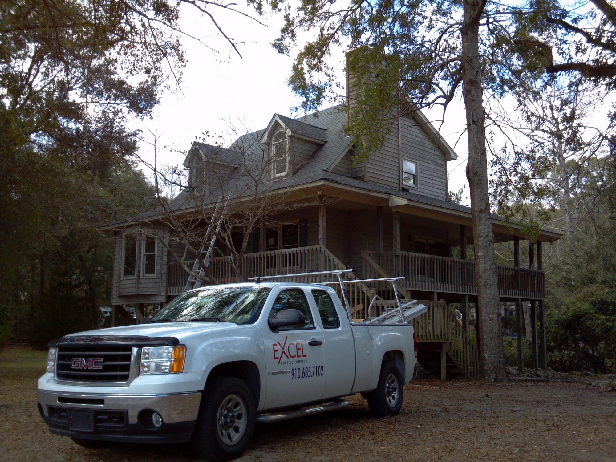 Excel Roofing Truck Wilmington, NC