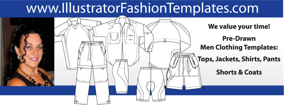 Professional fashion sketches for clothing for Clothing templates for illustrator
